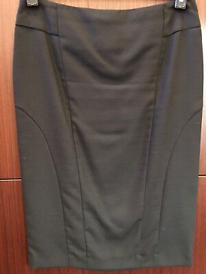 Oxford Black Pencil Skirt, Size 10 - 12