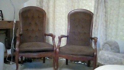 Pair of antique chairs for restoration genuine french Voltaire style.