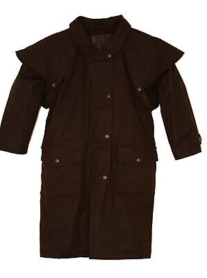(X-Large, Brown) - Outback Trading Co Boys' Co. Cotton Oilskin Duster - 2602