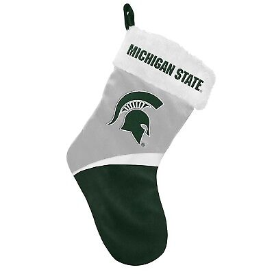 Michigan State Spartans Basic Holiday Stocking - 2016. Indian Marketplace