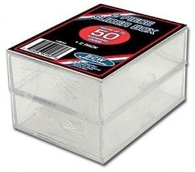 BCW 2 Piece Slider Box - 50 Count - (2-Pack) - Baseball and other Sports Cards