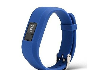 (Blue) - CoolDi Replacement Wristband With Secure Clasps for Garmin Vivofit 3