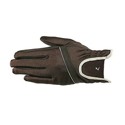 (7, Dark Brown) - Horze Evelyn Women's Breathable Summer Gloves. Free Shipping