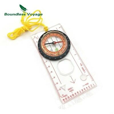(E29) - Multifunction Outdoor Camping Survival Compass Map Scale with