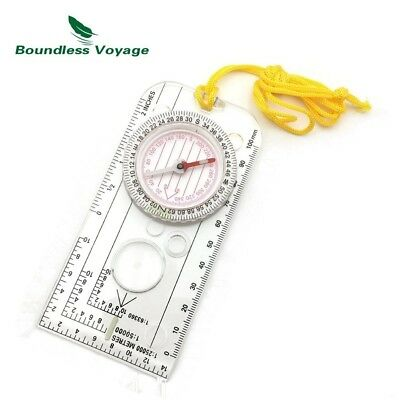 (E28) - Multifunction Outdoor Camping Survival Compass Map Scale with