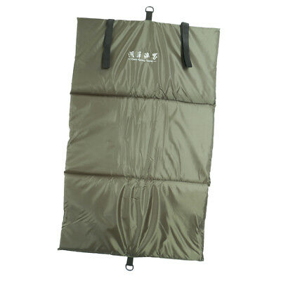 Carp Fishing Unhooking Mat Foldable Padded Landing Mat with Fold Over Straps