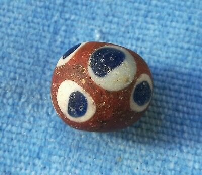 Stunning very rare Viking Big Size glass bead very wearable ancient artefact
