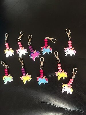 Handmade Unicorn Keyring/pencil Case Zippers, Schoolbags. One Included