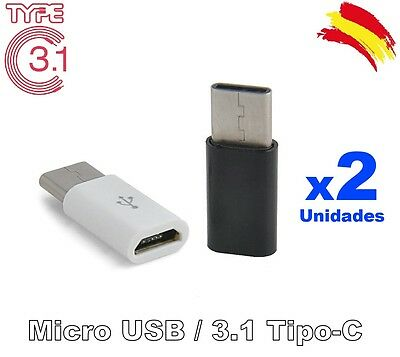 Adaptador Micro USB a 3.1 Tipo C MacBook Nokia N1 ChromeBook Nexus (x1 x2 x4)