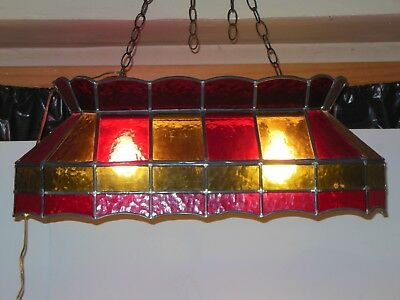 Stained Glass Pool Table Or Kitchen Island Hanging Light