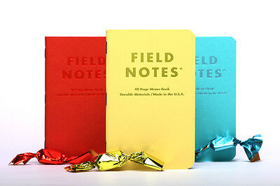 Field Notes Sweet Tooth Edition Plain Papaer 3-Pack
