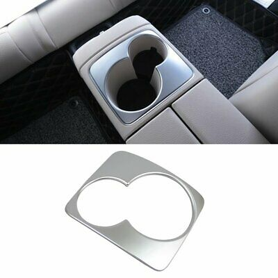 Fit For Benz E-Class W213 Sedan Rear Seat Cup Holder Cover Trim Silver Paint