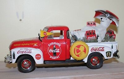 Vtg Coke Coca Cola Danbury Mint Polar Bear Pickup Truck 1953 Chevy RARE 1:24