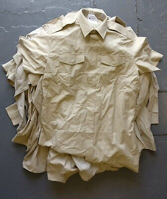 Job lot of British military Army Fawn uniform shirts