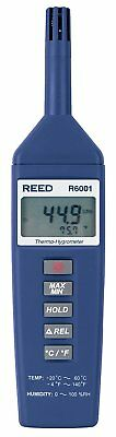 REED Instruments R6001 Thermo-Hygrometer, -4 to 140°F -20 to 60°C, 0-100% RH