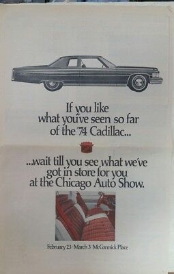 1974 Cadillac full page newspaper ad