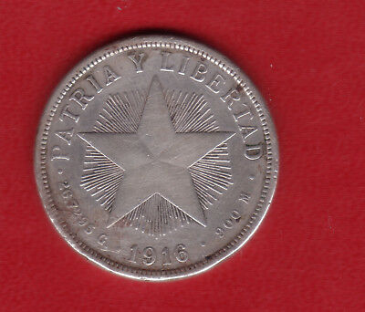 1916  One Peso Silver Crown