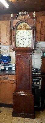 A Georgian Oak Antique 8 day Longcase Tallcase Grandfather Clock C1820