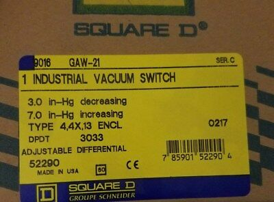 SQUARE D 9016GAW21 Vacuum Switch NEW