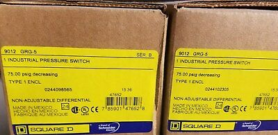 Square D 9012 Grg-5 Pressure Switch New!!! Lot Of 2!!!!