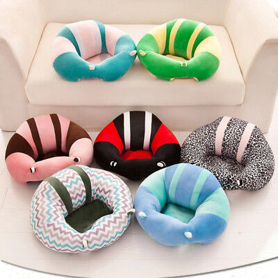 Kids Baby Support Seat Sit up Soft Chair Cushion Sofa Plush Pillow Bean Bag Toy