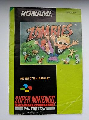 Zombies Ate My Neighbors Super Nintendo SNES Game Manual Instruction Booklet