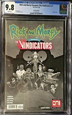 Rick And Morty Presents: The Vindicators #1 CGC 9.8 2nd Printing Variant Cover!