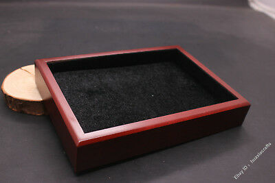 18cm Special grade Silk Wood Handmade Jewelry Pendant Ring Necklace Box Plate CO
