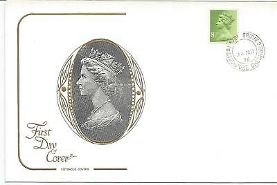 GB FDC 1976 NEW DEFINITIVE ISSUE 8.5p-COTSWOLD COVER