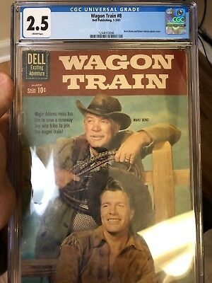 Wagon Train #8 Dell Publishing March 1961 Graded 2.5 by CGC