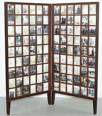 Beech Wood Folding Screen Room Divider Victorian Pictures Royal Military Empire