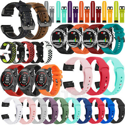 【Quick】Various 22mm Silicone/Leather Replace Watch Band Strap for Garmin Fenix 5