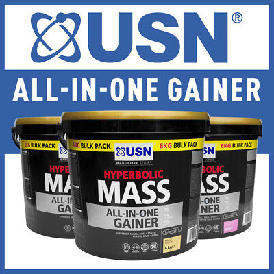 USN Hyperbolic Mass All In One Weight Gainer 2kg/6kg All Flavours Fast Delivery