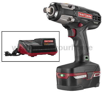 Craftsman C3 1 2 Heavy Duty 19 2v Cordless Impact Wrench Kit W