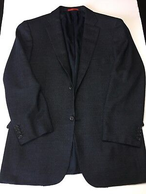 Dark Charcoal ISAIA Napoli two button jacket 42 Short 52C wool