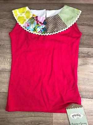 Persnickety Girls Pink size 5T Top tank Printed Color Lou Lou Patchwork