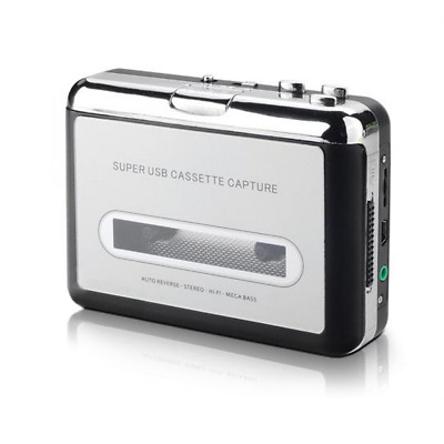 IIEasy Portable Mini USB Audio Cassette Tape-to-MP3 Converter Player Adapter wit