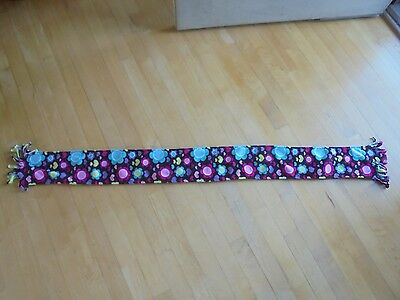 Jumping Beans Girls Medium Fleece Scarf~~Bright Colored Flowers~~Free Shipping!!