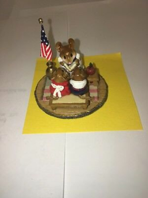 WEE FOREST FOLK M-268 COUNTRY CLASSROOM factory LTD 2001 with US Flag