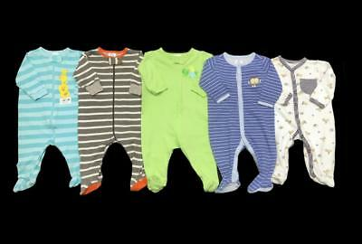 BABY BOY 0-3 months cotton Summer SLEEPER PAJAMAS Clothes Lot