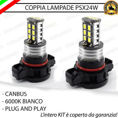 2X Lampade Psx24W Fendinebbia 15 Led Canbus Jeep Compass 2010 2016 Bianco