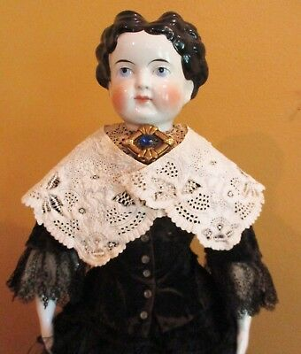 Antique Whitework Lace Collar For Doll or Girl's Dress