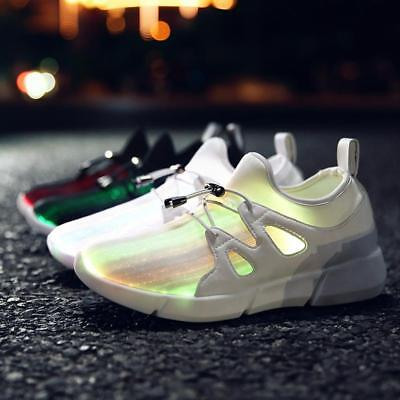 White Black Fashion USB Charger Glowing Light up Sneakers Led Children Lighting
