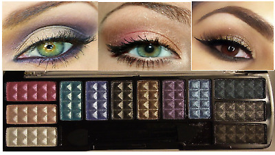 Shimmer Matte Eye Shadow Makeup Cosmetic 12 Color Eyeshadow Palette Brush Set