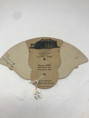 Hofmeister Memorial Funeral Home folding advertising fan Youngstown OH Ohio