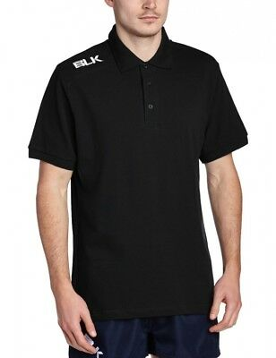 (Large, Black) - BLK Men's Classic Polo Shirt. Delivery is Free