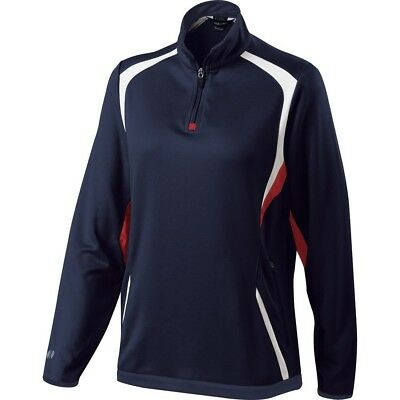 (Small, Navy/Scarlet/White) - Holloway Ladies Transform Pullover. Brand New