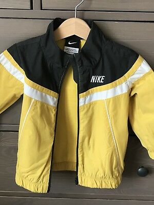 NIKE Boys Yellow and Grey Zip Up Training Tracksuit Jacket - 12-18 months