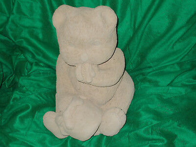 NEW teddy with hand in honey pot LATEX RUBBER MOULD WITH FIBREGLASS JACKET.