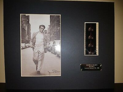 James Dean Limited Edition Signed Film Cell! Rare! Only 500 Made!